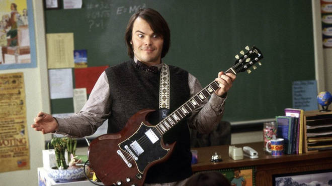 Jack Black plays a failed musician who turns his class into his new band