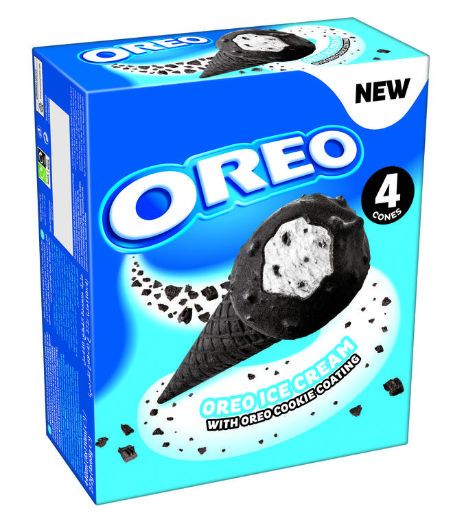 The new Oreo ice creams are available in packs of four