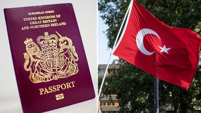 British passport and Turkish flag