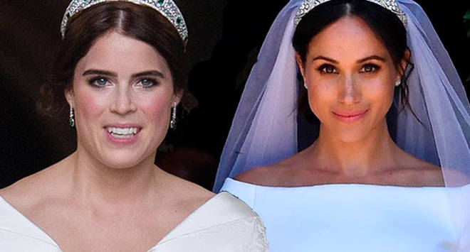 Princess Eugenie and Meghan Markle showed off flawless complexions when they wed