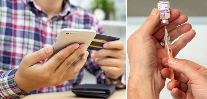 Scammers are targeting people via email, phone call and text (stock images)