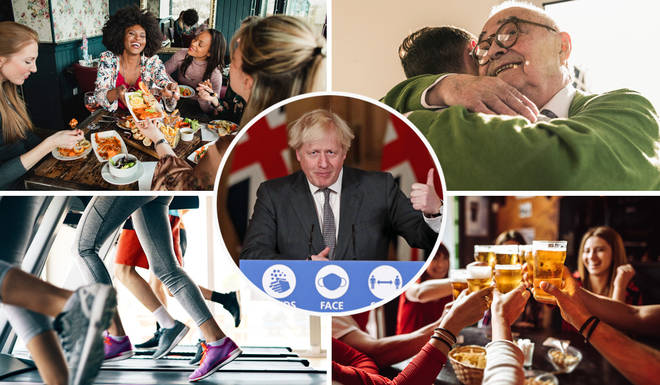 Boris Johnson has announced key dates for the easing of lockdown