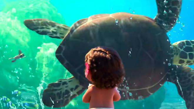 Squirt returns to dad Crush when he reaches the ocean