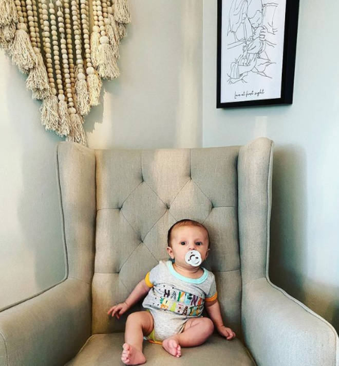 Jules and Cameron have redecorated their baby's nursery