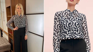 Holly Willoughby's shirt is from The Fold London
