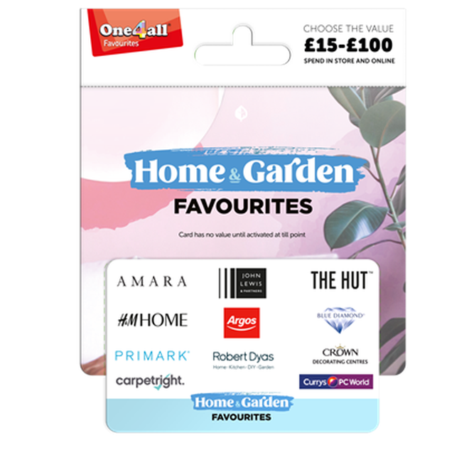 The One4All gift card can be used at M&S, John Lewis, Pandora, H&M and many more