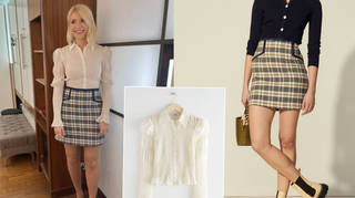 Holly Willoughby's outfit is from & Other Stories and Sandro Paris