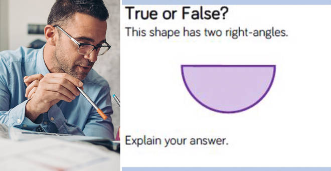 The man took to Twitter to share the tricky question (left: stock image)