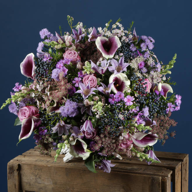 This stunning bouquet is available for delivery from Zing Flowers