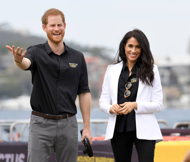 Meghan was pictured wearing the rings at an Invictus Games event