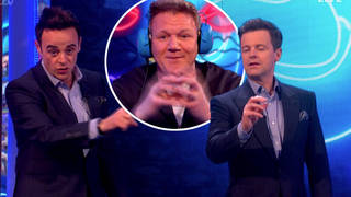 Gordon appeared to let out a rude word on Saturday Night Takeaway at the weekend...