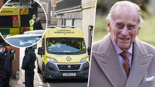 Prince Philip was taken to another hospital today via ambulance