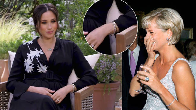 Meghan Markle wore Princess Diana's bracelet during her Oprah interview