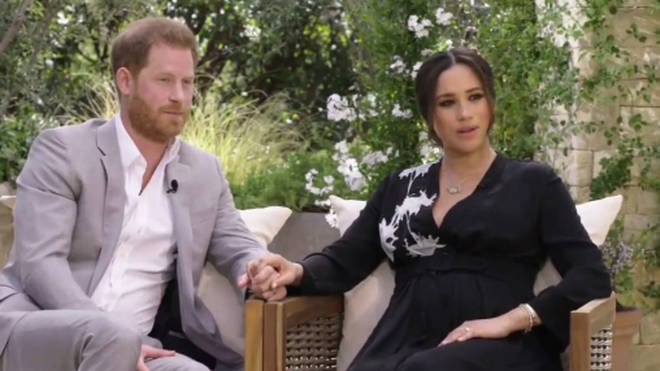Prince Harry and Meghan Markle recorded a two hour chat with Oprah