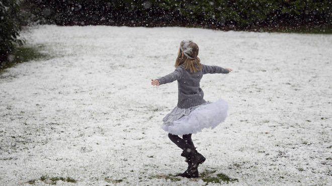 The Easter Egg hunt might be taking place in the snow this year...