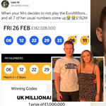 The couple had been playing the winning numbers for five weeks before they appeared in the draw