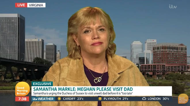 Samantha Markle has insisted her new book about Meghan Markle is not a slamming 'tell-all' book