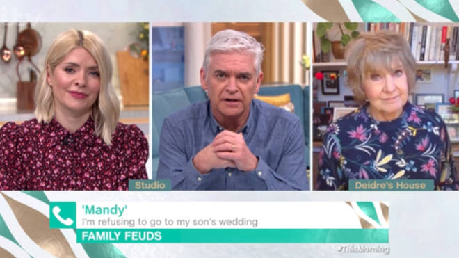 Holly told 'Mandy' that is was her job to be there on the wedding day