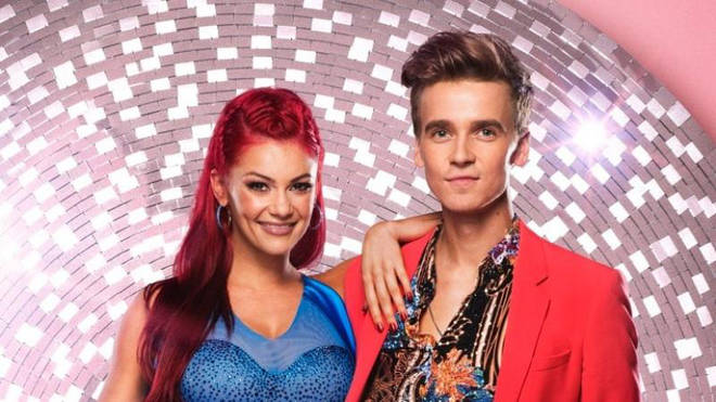Dianne Buswell and her celebrity dance partner Joe Sugg