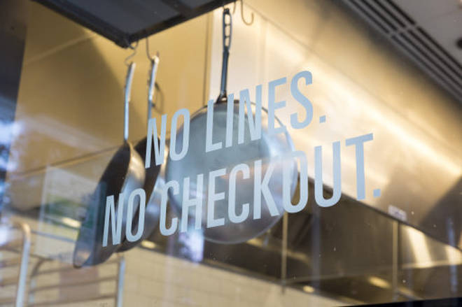 Shoppers do not have to queue for a checkout in the supermarkets