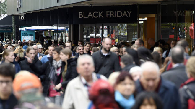 Shoppers fill Oxford Street during Black Friday 2015