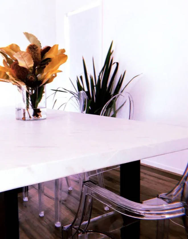 Ines Basic has revealed her dining room on Instagram