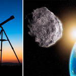 The asteroid will be visible to some telescopes (stock images)