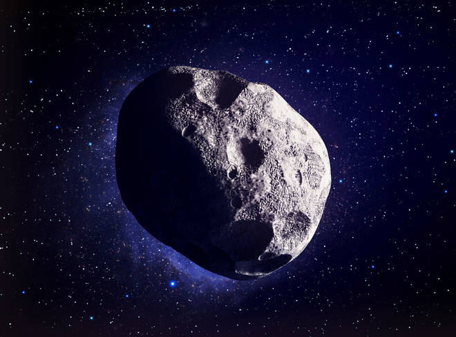 The asteroid is set to fly past the earth at 1am tonight (stock image)