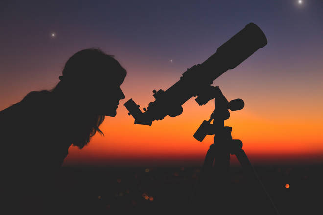 The asteroid will be visible to some telescopes this evening (stock image)