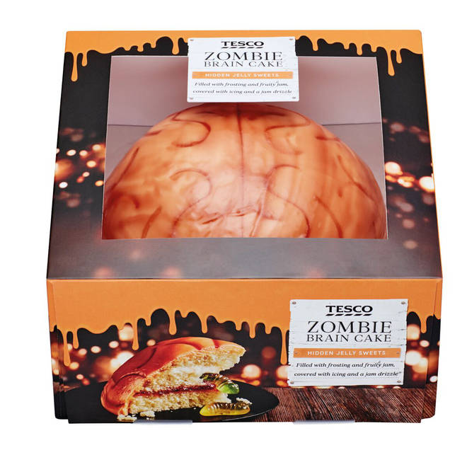 Tesco are selling a Zombie Brain Cake