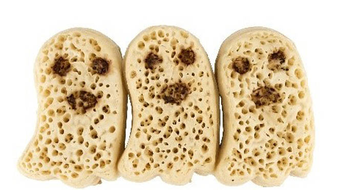 Asda are selling ghost-shaped crumpets