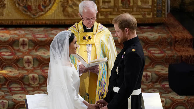 The Archbishop of Canterbury married the couple in secret three days before the royal wedding