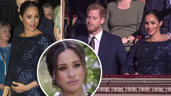 Meghan Markle said the pictures taken at the Royal Albert Hall 'haunt' her