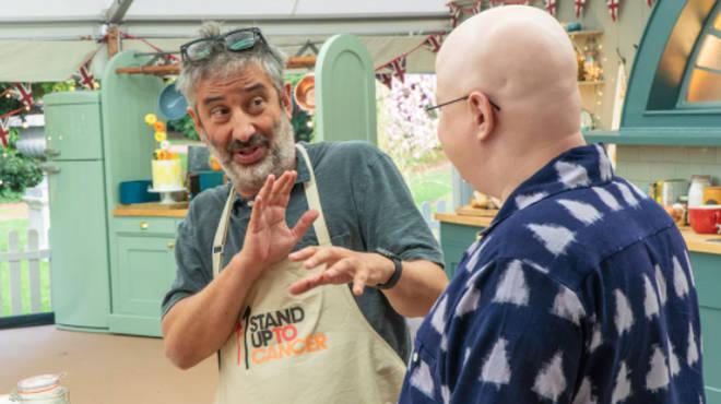 comedian David Baddielt is starring on Bake Off