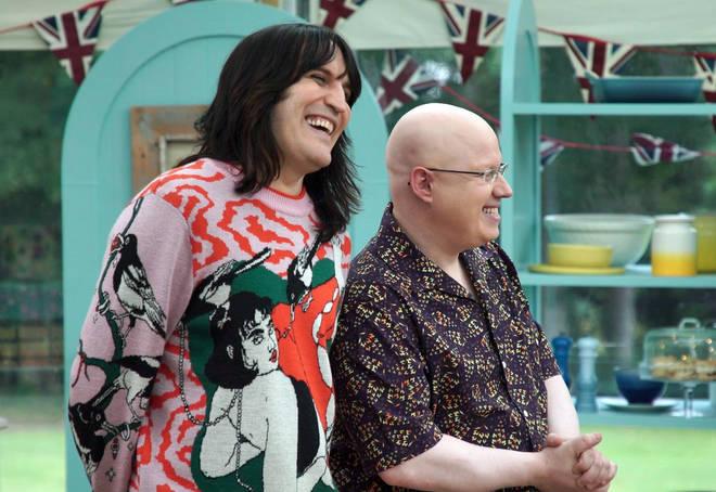 Noel Fielding usually present GBBO with Matt Lucas