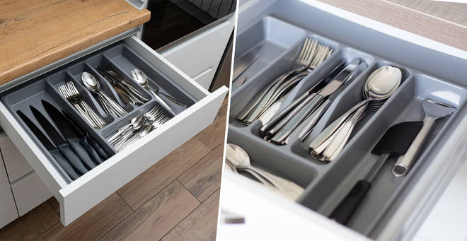 The 'correct' order for cutlery has sparked a debate online... (stock images)