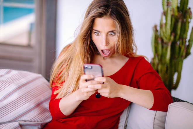 A woman discovered her boyfriend was cheating while online shopping (stock image)