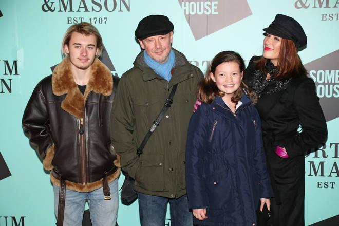 John Simm, Kate Magowan and their children