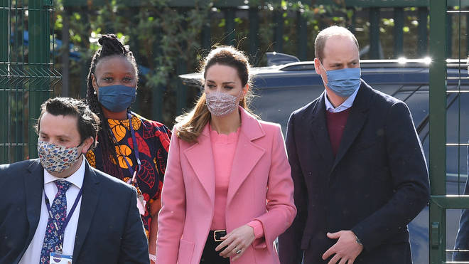 Prince William and Kate Middleton put on brave faces for a royal engagement today