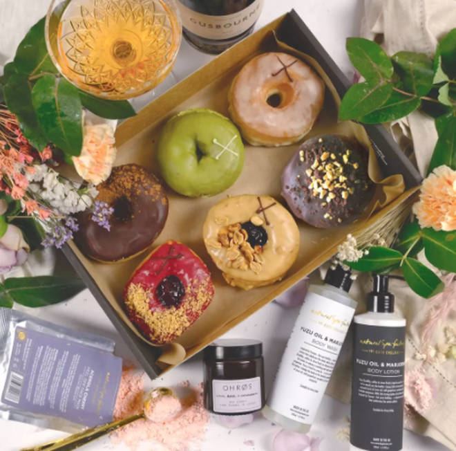 The Crosstown Doughnuts Luxury Self-Care Gift Box will go down a treat