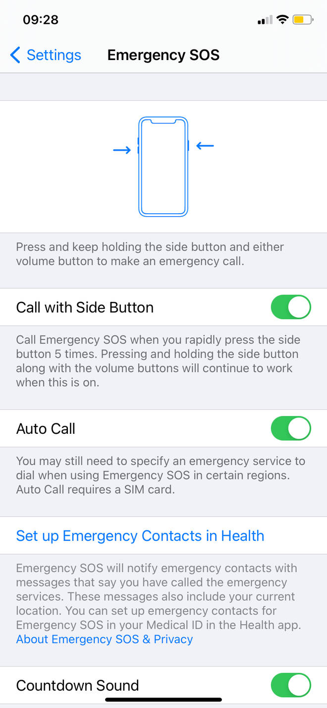 You can set up the function in settings on your iPhone