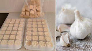 How to prepare garlic quickly...(right: stock image)