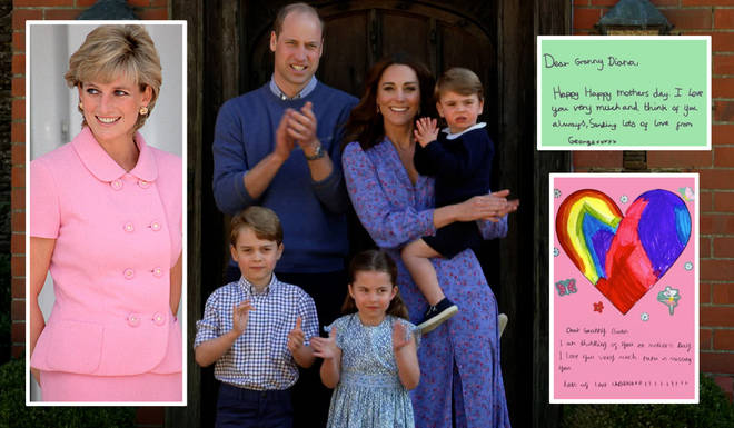 Kate Middleton and Prince William shared the beautiful cards created for Diana