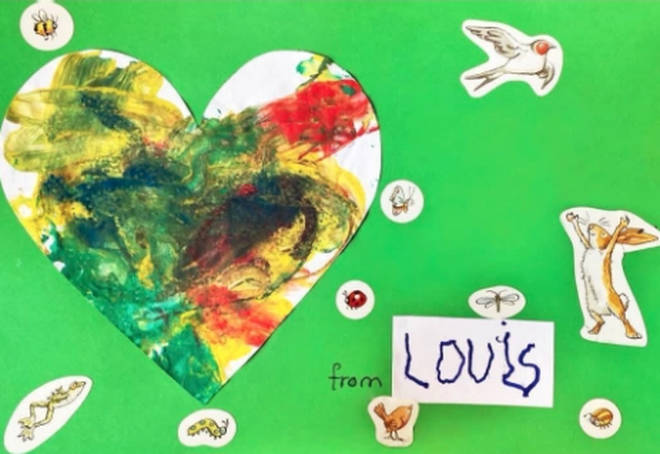 Prince Louis also created a card for Mother's Day