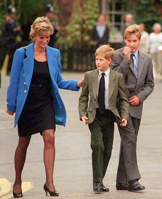 Prince Harry also paid tribute to Diana on Sunday, having flowers laid on her grave