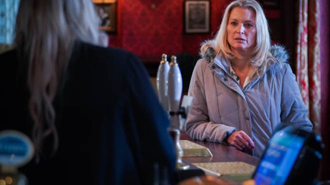 Kathy Beale had to tell Sharon her biological father had died