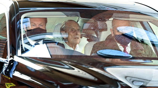 The Duke of Edinburgh was admitted to hospital a month ago
