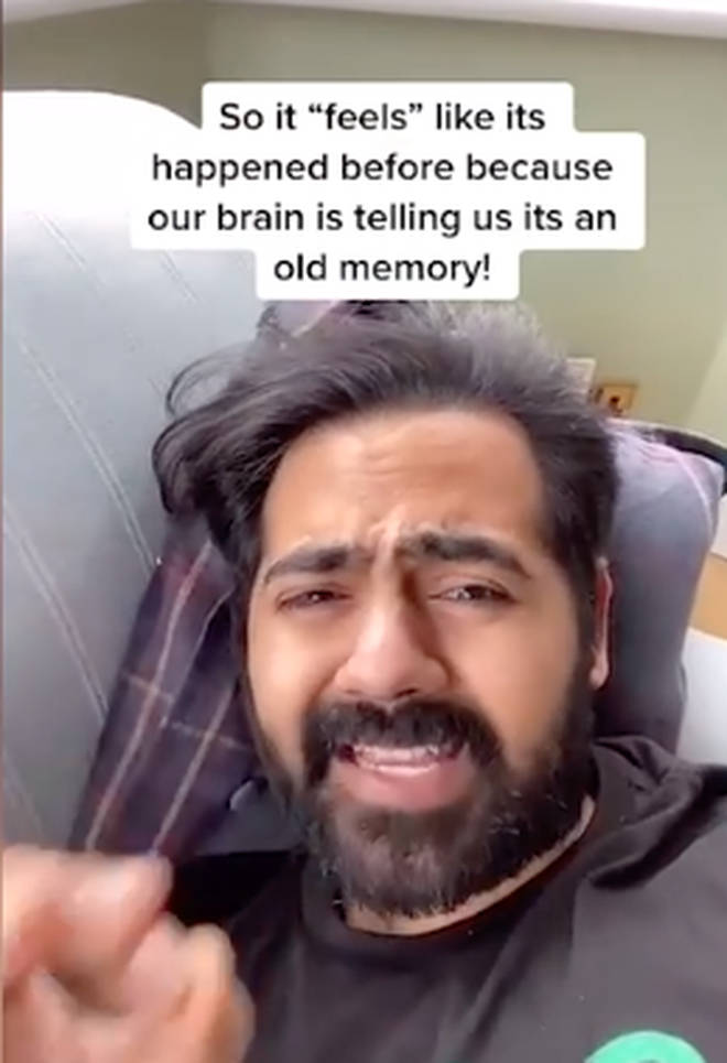 Dr Karan Raj explained Deja Vu on TikTok