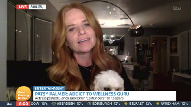 Patsy Palmer was upset by the description they had used for her interview