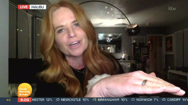 Patsy Palmer told the show it was 'not ok' to have the description 'addict to wellness guru' on the screen